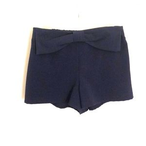 Dark blue shorts with bow